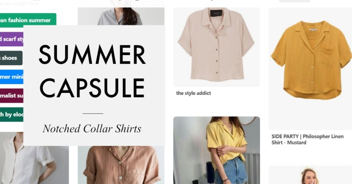 Notched Collar shirts